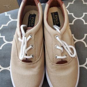 Boys Polo Khaki Shoes size 2